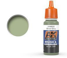 AK Silver Grey Acrylic Paint 17ml Bottle Hobby and Model Acrylic Paint #4032