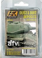 AK Dust & Dirt Deposits Weathering Enamel Paint Hobby and Model Paint Set #4060