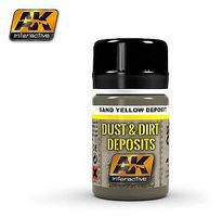 AK Sand Yellow Deposit Enamel Paint 35ml Bottle Hobby and Model Enamel Paint #4061
