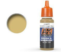 AK Khaki Drab Acrylic Paint 17ml Bottle Hobby and Model Acrylic Paint #4071