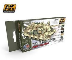 AK Modern French Army Acrylic Hobby and Model Enamel Paint Set #4080