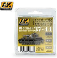 AK Color Combos German Standard 37-44- Acrylic Paint Set (3 Colors) Hobby and Model Paint #4172