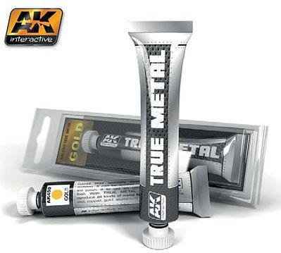 AK Interactive True Metal Wax Gold 20ml Tube -- Hobby and Model Enamel Paint -- #450