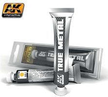 AK True Metal Wax Gold 20ml Tube Hobby and Model Enamel Paint #450