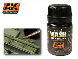 AK Dark Brown Wash Enamel Paint 35ml Bottle Hobby and Model Enamel Paint #45
