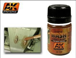 AK Light Rust Wash Enamel Paint 35ml Bottle Hobby and Model Enamel Paint #46