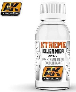 AK Interactive Xtreme Cleaner for Xtreme Metal Color Range -- Hobby and Model Acrylic Paint -- #470
