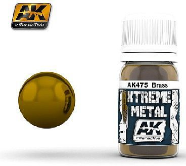 AK Xtreme Metal Brass Metallic Paint Hobby and Model Acrylic Paint #475