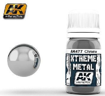 AK Interactive Xtreme Metal Chrome Metallic Paint -- Hobby and Model Enamel Paint -- #477