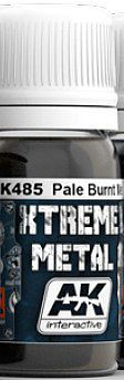 AK Xtreme Metal Pale Burnt Metal Metallic Paint (30ml) Hobby and Model Enamel Paint #485