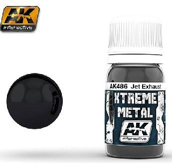 AK Xtreme Metal Jet Exhaust Metallic Paint Hobby and Model Acrylic Paint #486
