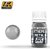 AK Xtreme Metal Matte Aluminum (30ml) Hobby and Model Enamel Paint #488