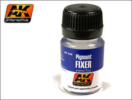 AK Pigment Fixer Enamel 35ml Bottle Hobby and Model Enamel Paint #48