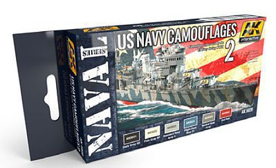 AK US Navy Camouflage Vol.2 (6 Colors) 17ml Bottles Hobby and Model Acrylic Paint #5020