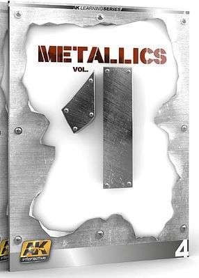 AK Interactive Metallics Vol.1 Learning Series Book -- How To Model Book -- #507
