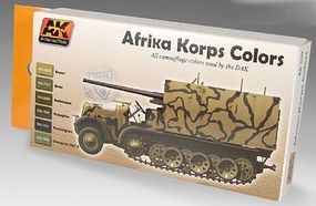 AK Afrika Korps Camouflage Acrylic Paint Hobby and Model Paint Set #550