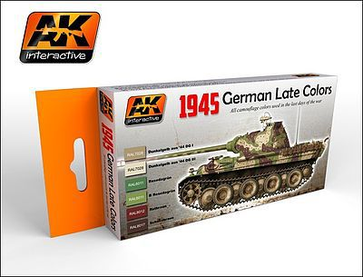 AK 1945 German Late War Acrylic Paint Hobby and Model Paint Set #554