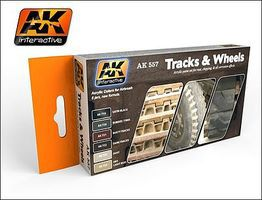 AK Track & Wheels Acrylic Paint Hobby and Model Paint Set #557