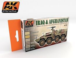 AK Iraq & Afghanistan Acrylic Paint Hobby and Model Paint Set #558