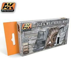 AK Old & Weathered Wood Vol.2 Acrylic Paint Hobby and Model Paint Set #563