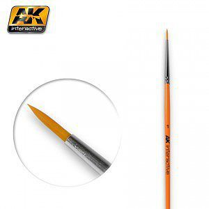 AK Size 1 Synthetic Round Brush Hobby and Model Paint Brush #603