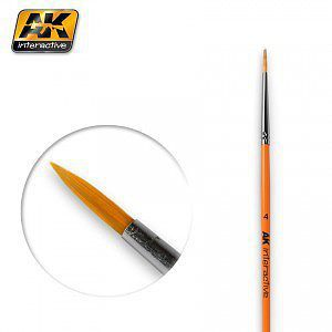 AK Size 4 Synthetic Round Brush Hobby and Model Paint Brush #605