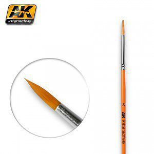 AK Size 8 Synthetic Round Brush Hobby and Model Paint Brush #607