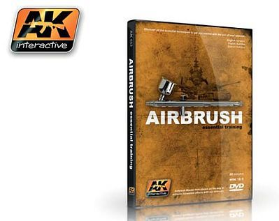 AK Interactive Airbrush Essential Training (NTSC) DVD -- Hobby Model DVD -- #653