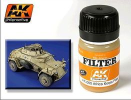 AK Afrika Korps Filter Enamel Paint 35ml Bottle Hobby and Model Enamel Paint #65