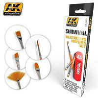 AK Survival Weathering Brushes Set (5 different) Hobby and Model Paint Brush #663