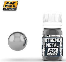 AK Xtreme Metal Stainless Steel Metallic Paint 30ml Bottle Hobby and Model Enamel Paint #670