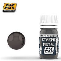 AK Xtreme Metal Smoke Metallic Paint 30ml Bottle Hobby and Model Enamel Paint #671