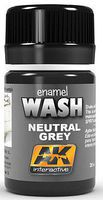 AK Neutral Grey Wash Enamel Paint 35ml Bottle Hobby and Model Enamel Paint #677