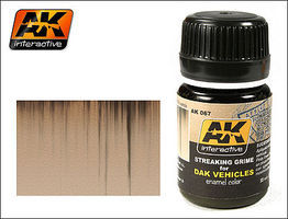 AK DAK Vehicle Streaking Grime Enamel Paint 35ml Bottle Hobby and Model Enamel Paint #67