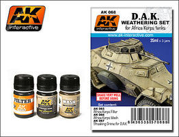 AK DAK Africa Korps Tanks Enamel Paint (65, 66, 67) Hobby and Model Paint Set #68