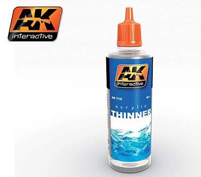 AK Acrylic Thinner 60ml Bottle Hobby and Model Acrylic Paint #712