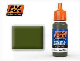 AK Spanish Green Acrylic Paint 17ml Bottle Hobby and Model Acrylic Paint #736