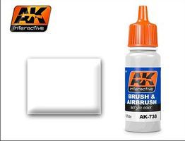 AK White Acrylic Paint 17ml Bottle Hobby and Model Acrylic Paint #738