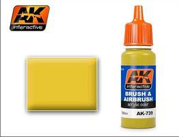 AK Yellow Acrylic Paint 17ml Bottle Hobby and Model Acrylic Paint #739