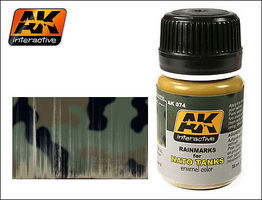 AK NATO Tank Rainmarks Enamel Paint 35ml Bottle Hobby and Model Enamel Paint #74