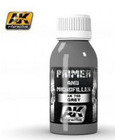 AK Grey Primer & Microfiller 100ml Bottle Hobby and Model Enamel Paint #758