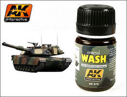 AK NATO Vehicle Wash Enamel Paint 35ml Bottle Hobby and Model Enamel Paint #75