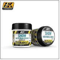 AK Diorama Series- Snow Microballoons Powder Texture Acrylic 100ml Bottle