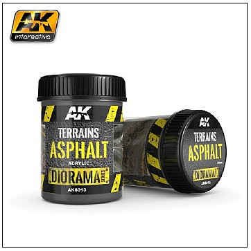 AK Interactive Diorama Series- Terrains Asphalt Texture Acrylic 250ml Bottle