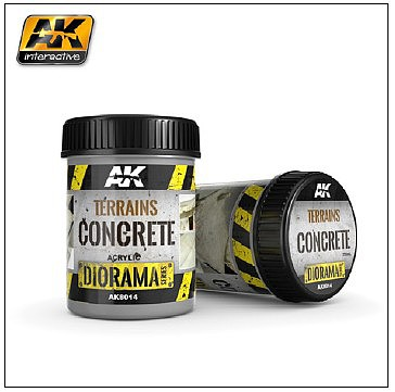AK Interactive Diorama Series- Terrains Concrete Texture Acrylic 250ml Bottle