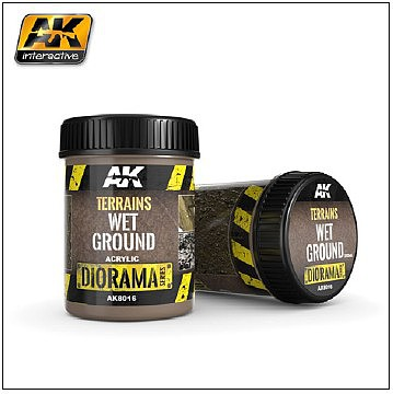 AK Diorama Series- Terrains Wet Ground Texture Acrylic 250ml Bottle