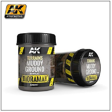 AK Diorama Series- Terrains Muddy Ground Texture Acrylic 250ml Bottle