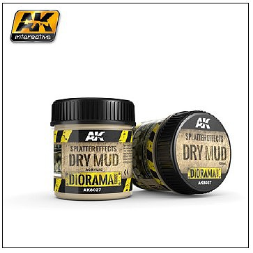 AK Diorama Series- Splatter Effects Dry Mud Acrylic 100ml Bottle