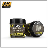 AK Diorama Series- Dark & Dry Crackle Effects Acrylic 100ml Bottle