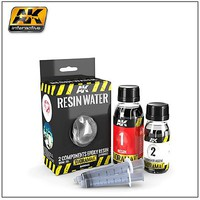AK Diorama Series- Resin Water 2-Part Components Epoxy for Clear Water Effect 180ml